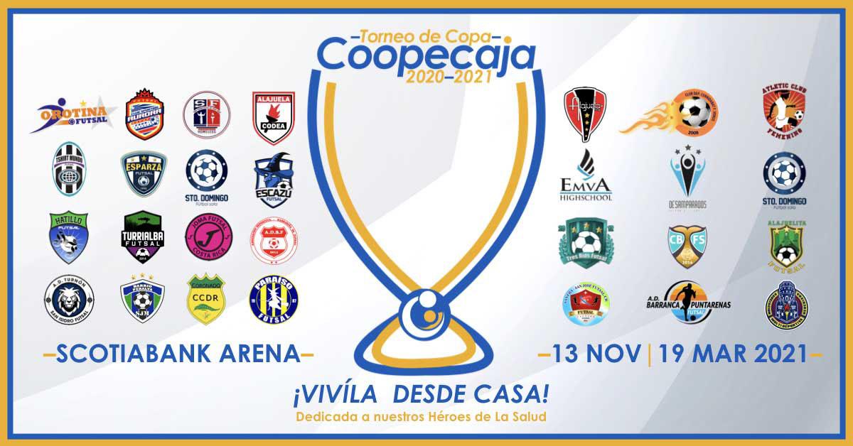 TORNEO DE COPA COOPECAJA 2020-2021: El futsal regresa en noviembre con 28 equipos, 99 partidos y una sede